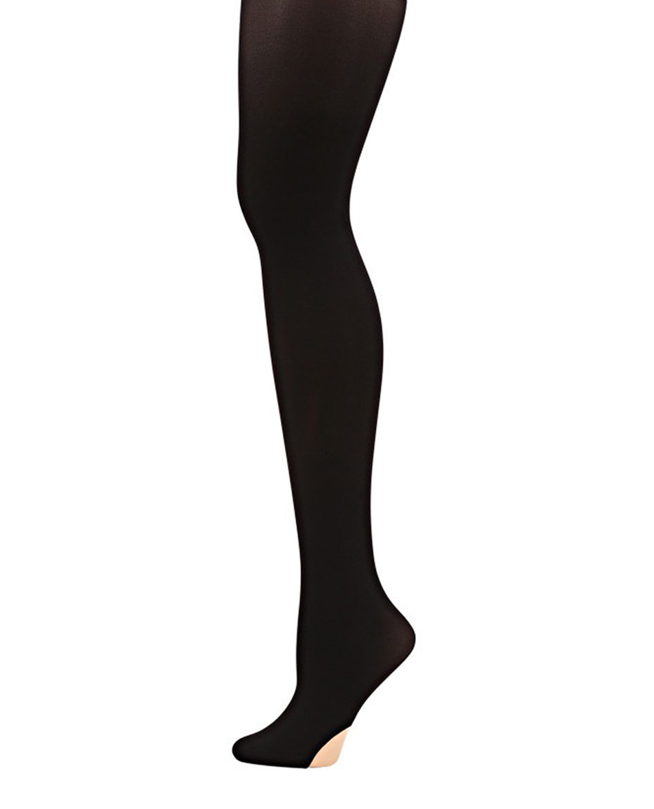 Womens Convertible Ballet Dance Tights BLACK