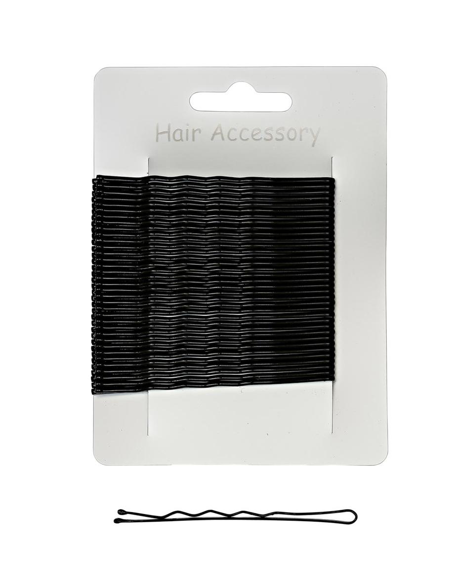 7cm Waved Hairgrips Black