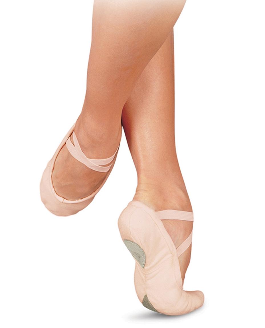 Split Sole Canvas Ballet Shoes Pink