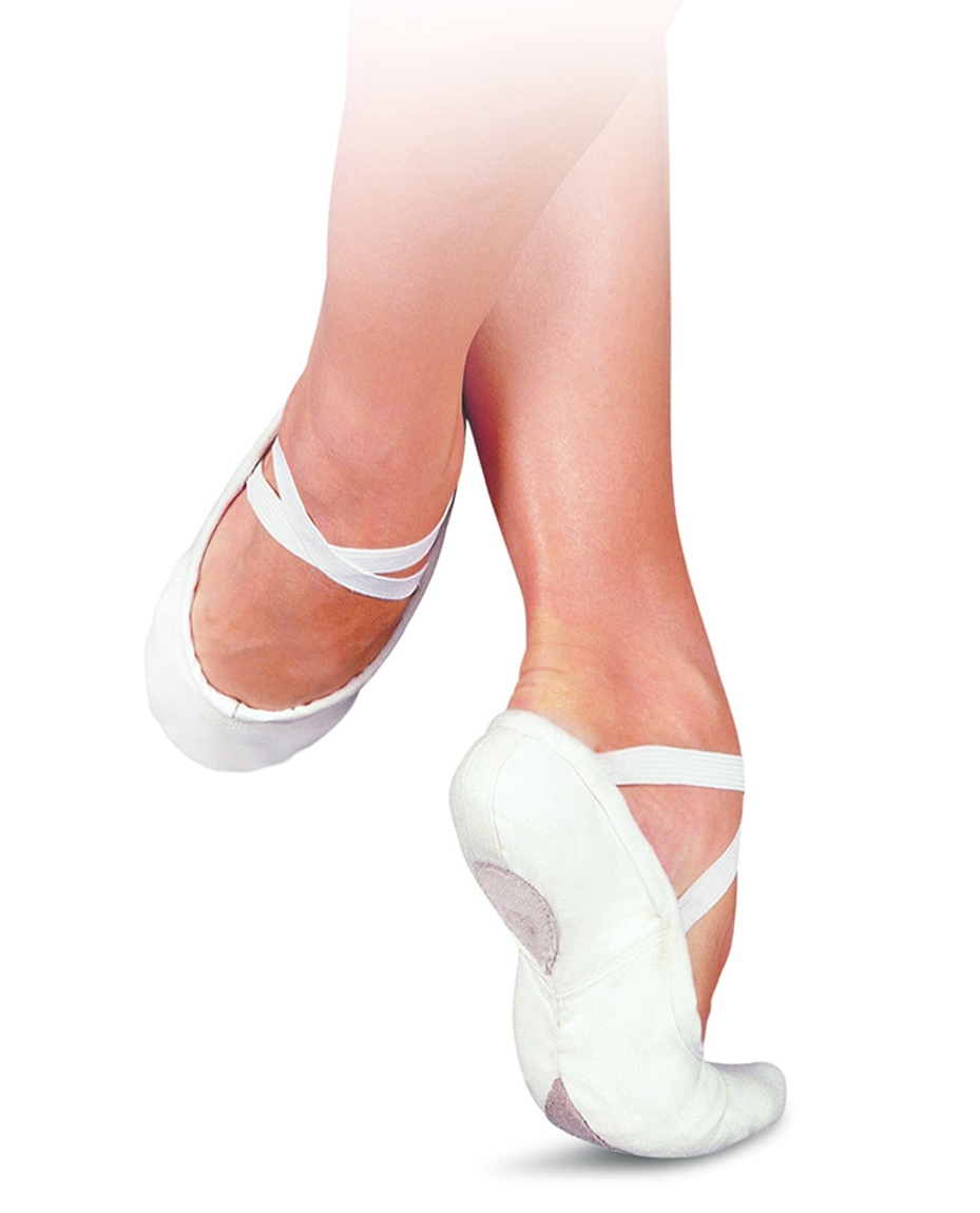Split Sole Canvas Ballet Shoes White