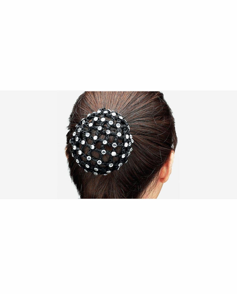 Bun Cover With Large Rhinestones
