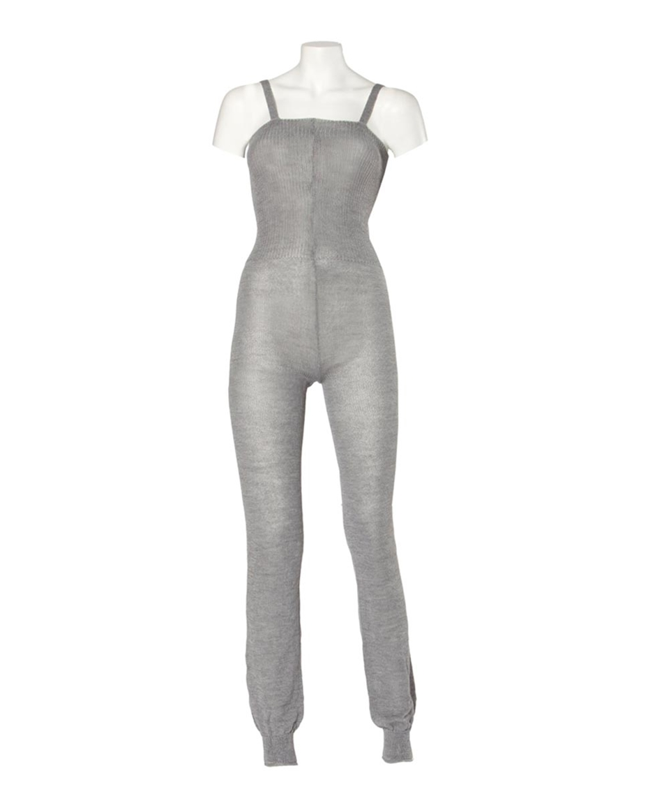 Knitted Camisole Dance Unitard GREY
