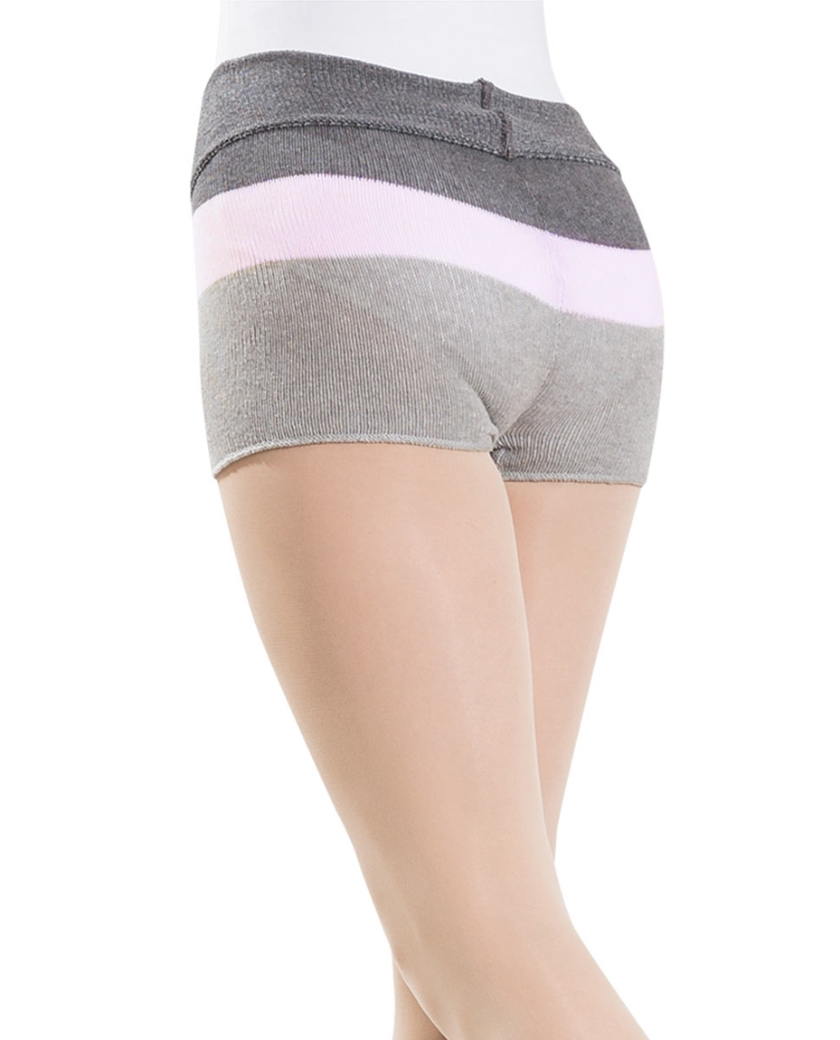 Grey Knitted Cotton Dance Shorts