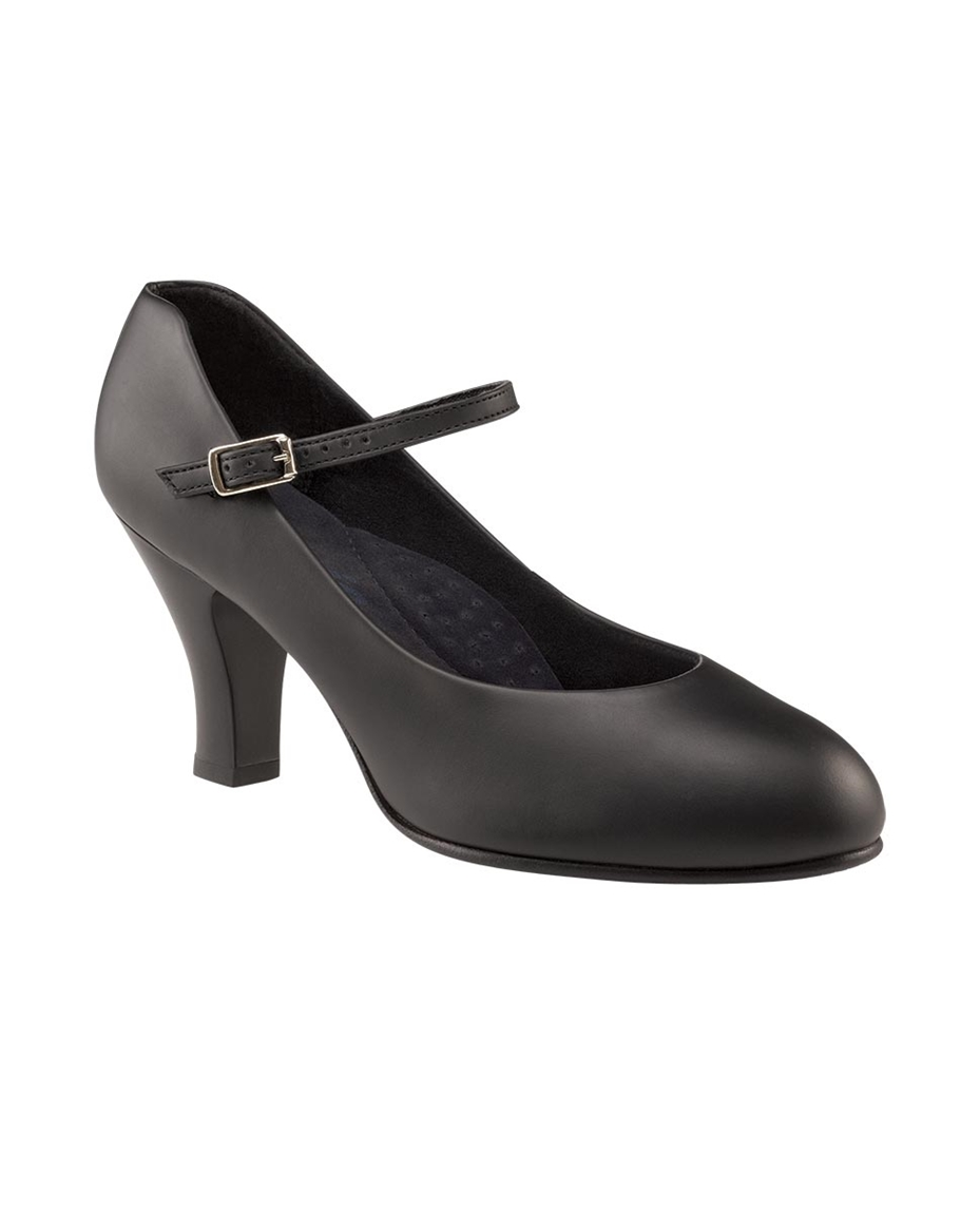 Womens Leather Theatrical Shoes BLACK