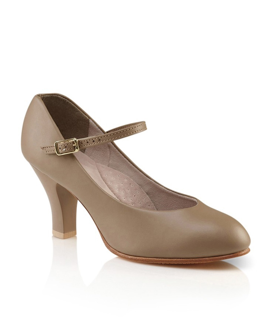Womens Leather Theatrical Shoes  NUDE
