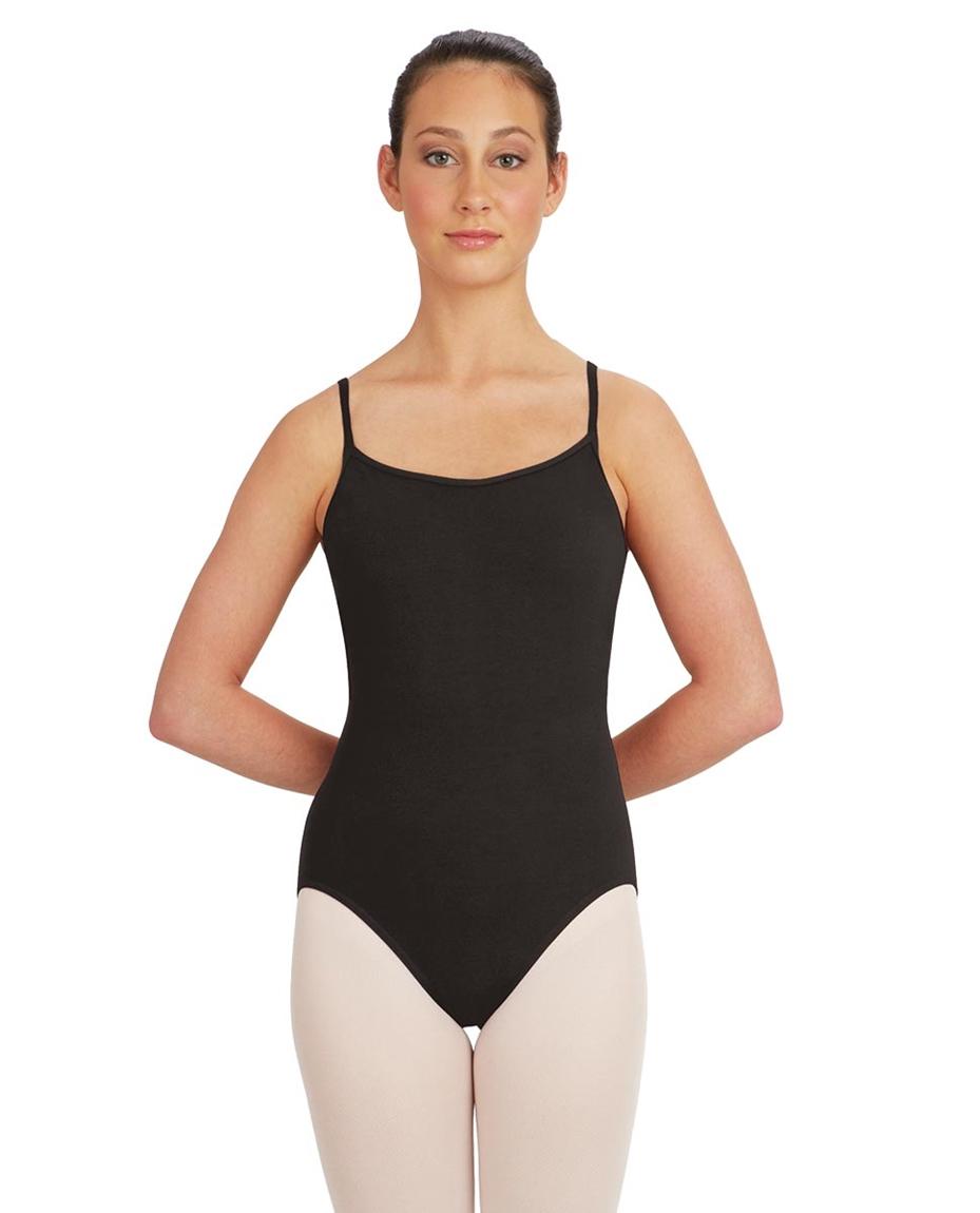 Womens Camisole Criss-Cross Leotard BLACK