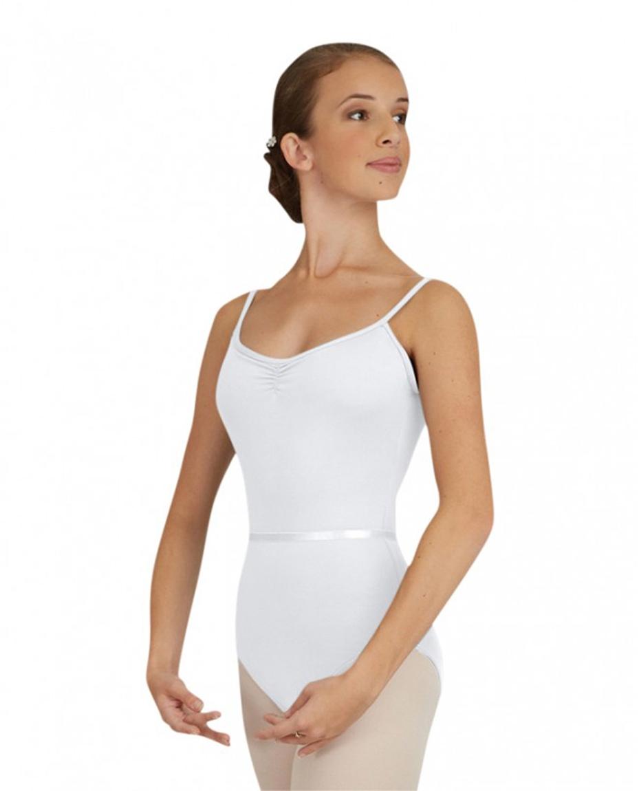 Women's Camisole Ballet Leotard WHITE