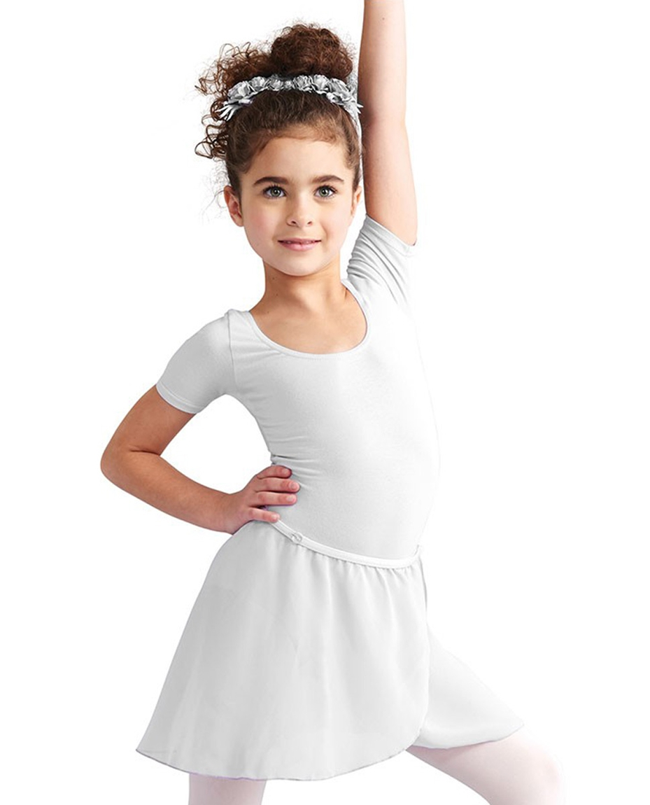 Childs Chiffon Ballet Dance Wrap Skirt WHITE