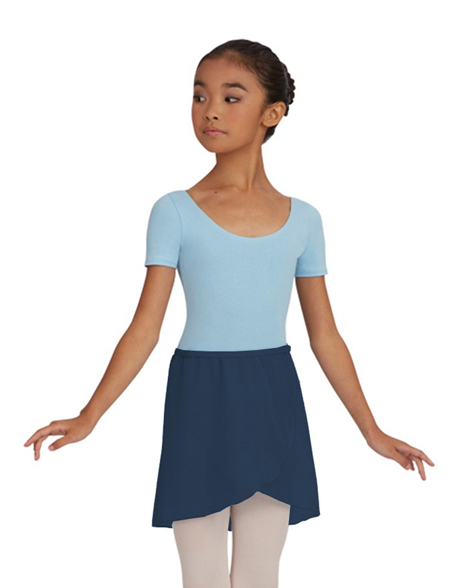 Childs Chiffon Ballet Dance Wrap Skirt NAVY