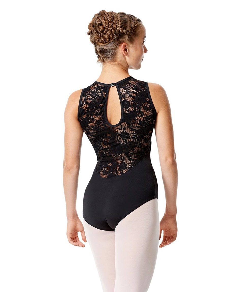 High Neck Lace Leotard Olga