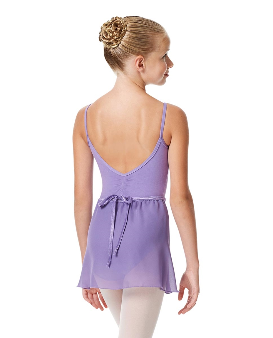 Girls Short Wrap Ballet Skirt Viola