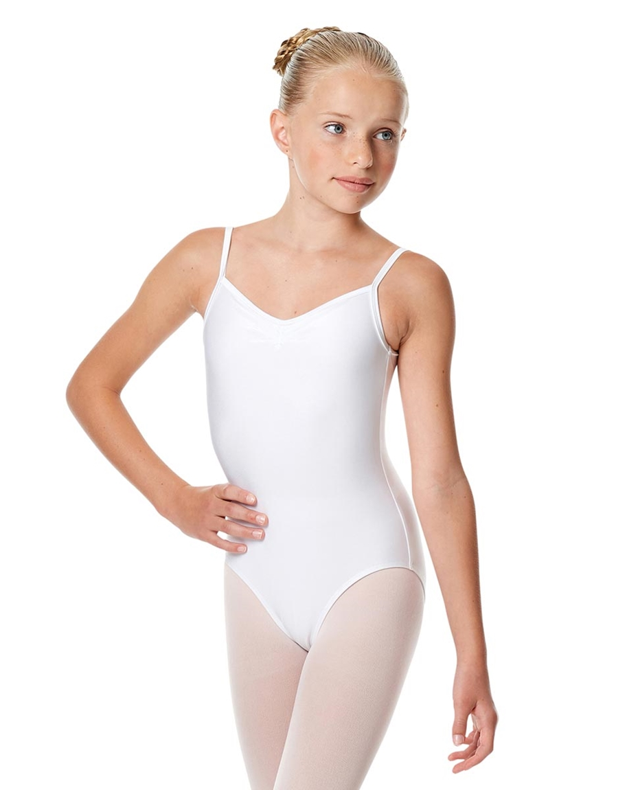 Child Shiny Pinch Front Camisole Dance Leotard Agnes