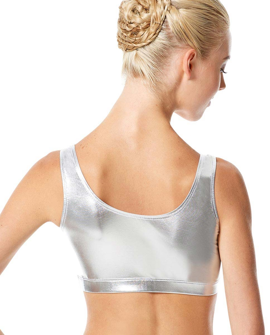 Adult Metallic Dance Tank Bra Roberta
