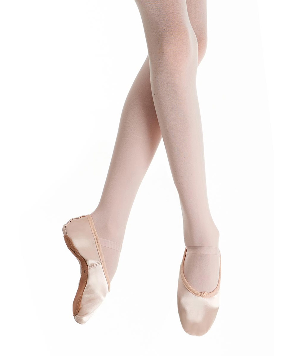 Full Sole Satin Ballet Shoes for Beginners