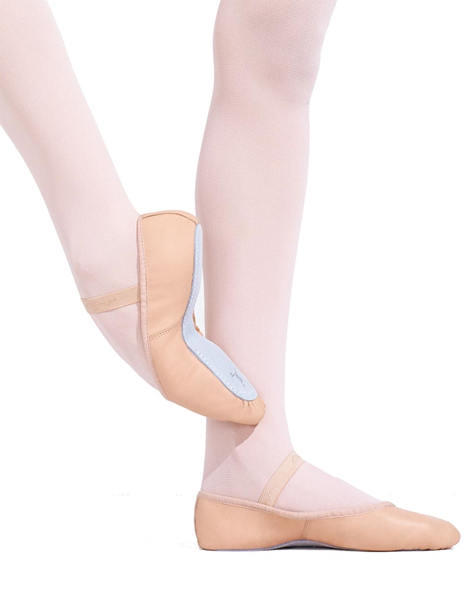 DAISY Full Outsole Leather Ballet Shoes PINK