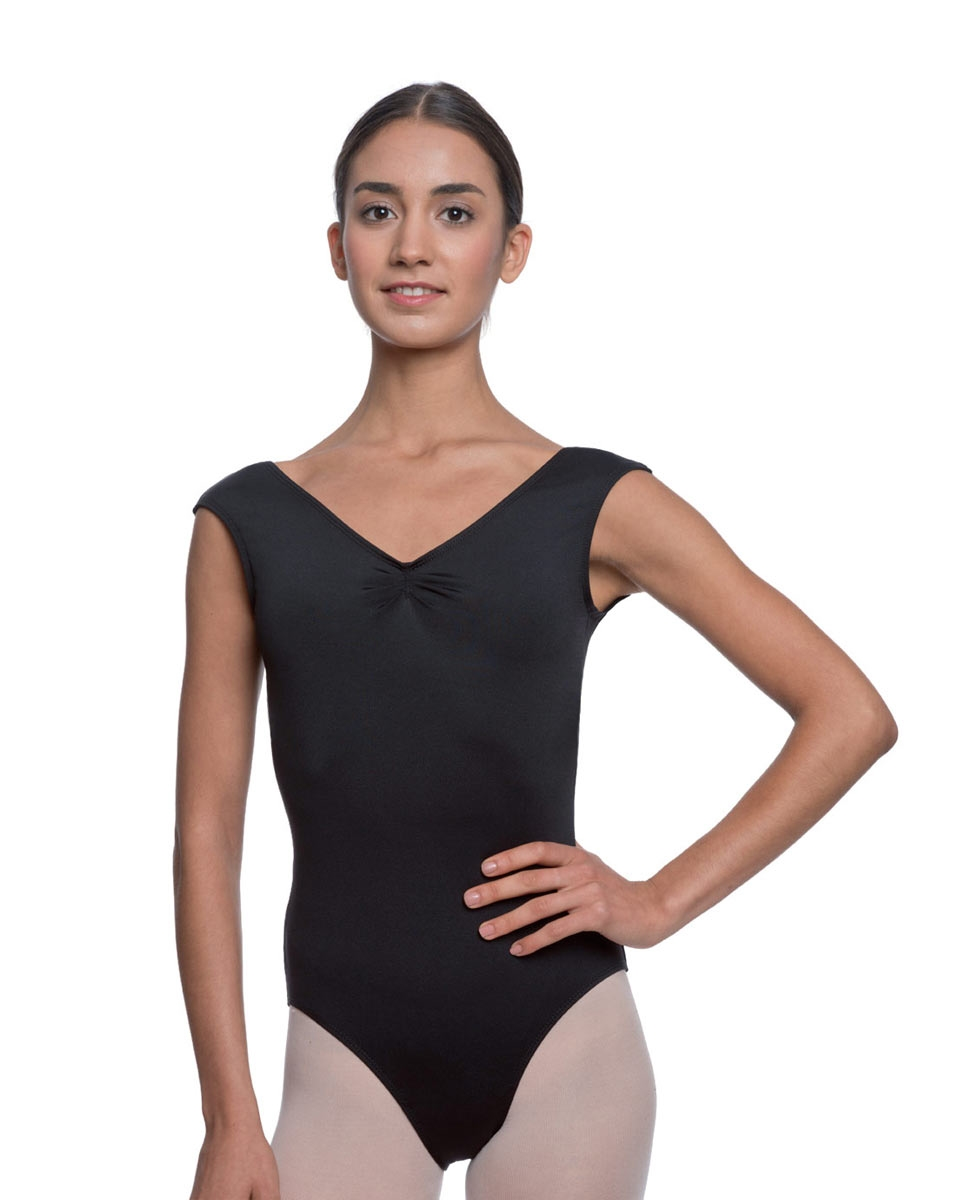 Womens Pinch Front Cap Sleeve Ballet Leotard Reyton