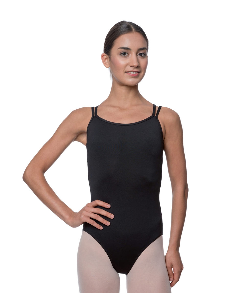 Womens Double Crossed Straps Camisole Dance Leotard Nina