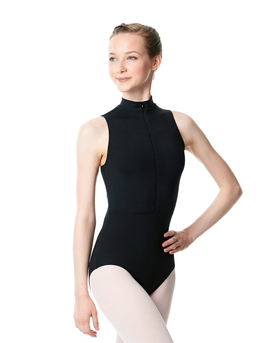 Womens Turtleneck Front Zipper Dance Leotard Leah
