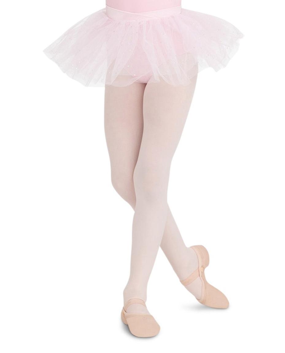 Childs Glitter Tule Tutu Skirt WHITE