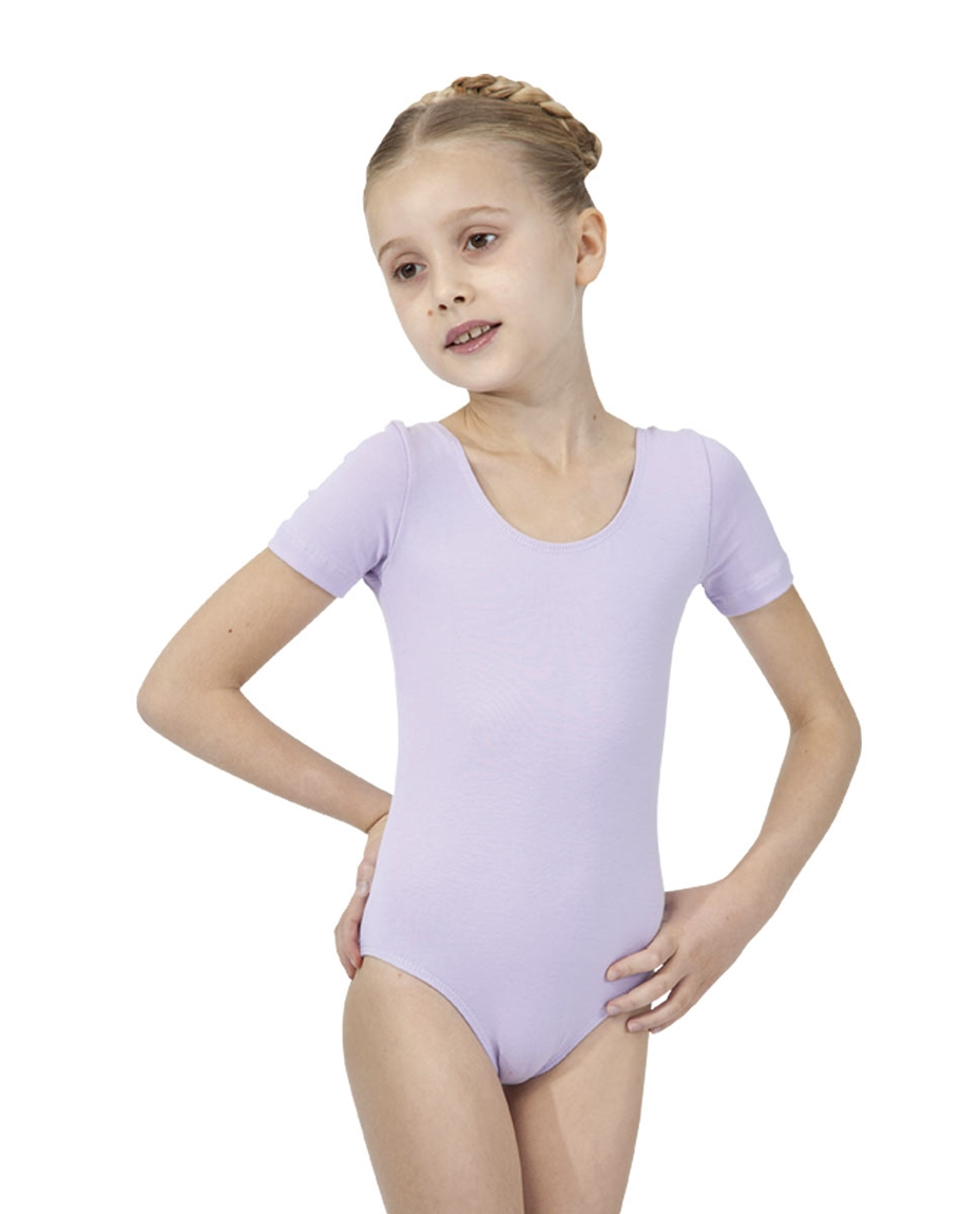 Short Sleeved Dance Leotard For Girls