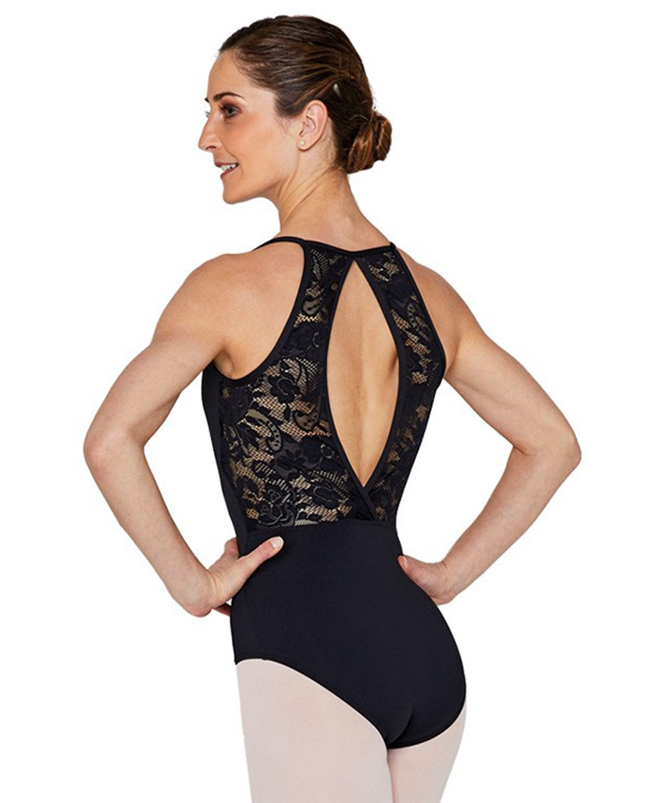 Camisole Lace Keyhole Back Dance Leotard for Women