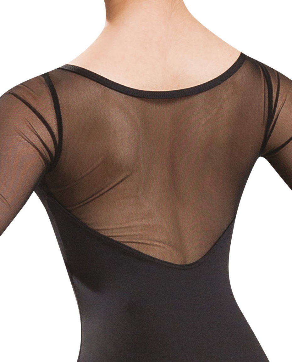 Mesh Long Sleeve Dance Leotard