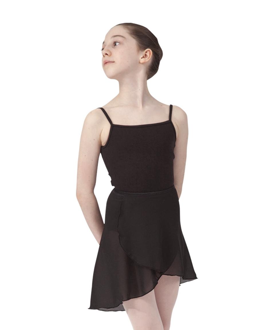 Girls ballet wrap skirt_BLK