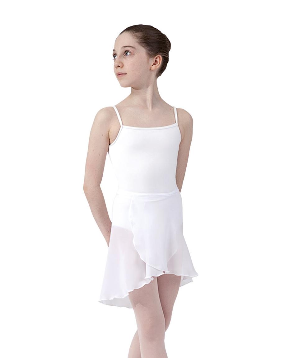 Girls ballet wrap skirt_WHI