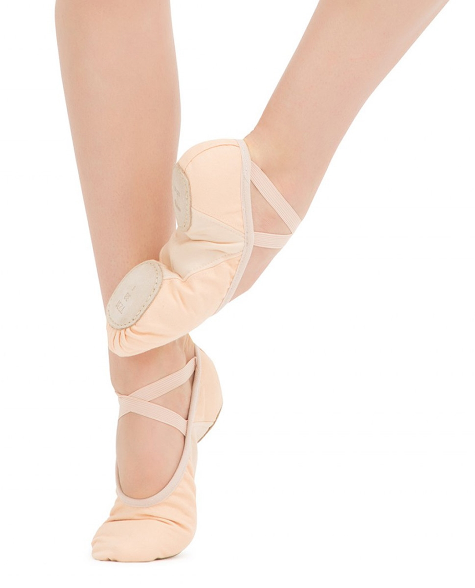 stretch canvas ballet shoes Pink