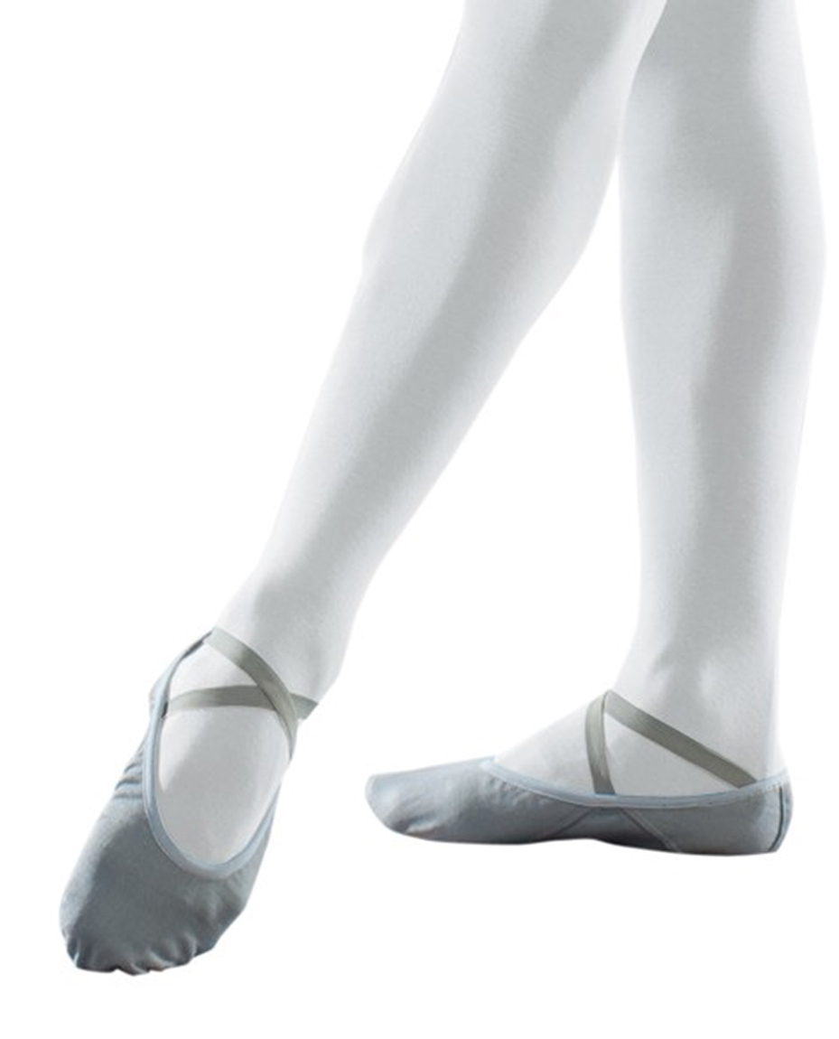stretch canvas ballet shoes Grey