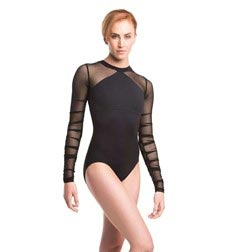 Womens Long Sleeve Dance Leotard Blaze