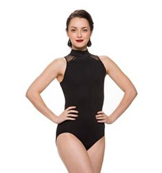 Mesh Back Mock Neck Dance Leotard Bryn