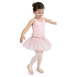 Girls Glitter Rose Tutu Tank Dress