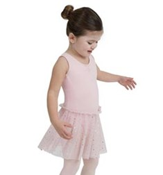 Girls Skirted Tank Leotard Glitter Rose