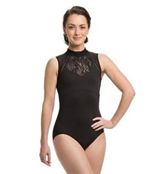 Zipper Back Sleeveless Dance Leotard Brittany