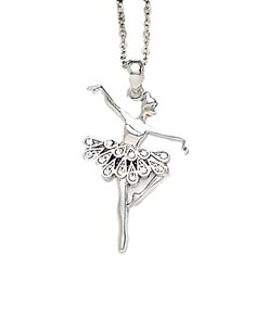 Ballerina Necklace With Teardrop Stones