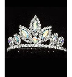 Tiara With Color Rhinestones
