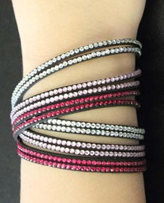 6 Strand Sparkling Bracelets Set of 5pcs