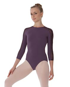 Women 3 4 Sleeve Dance Leotard