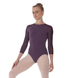 Women 3 4 Sleeve Dance Leotard