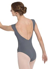 Women Mesh Scoop Back Dance Leotard