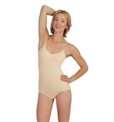 Womens Nude Clear Strap Dance  Leotard