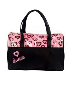 Glittery Hearts Dance Duffle Bag