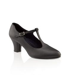 T-Strap Character Cabaret Leather Dance Shoes