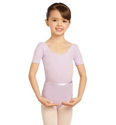 Child Short Sleeve Scooped Neck Ballet Leotard