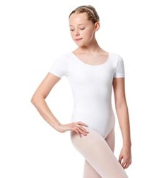 Child Basic Short Sleeve Ballet Leotard Tina