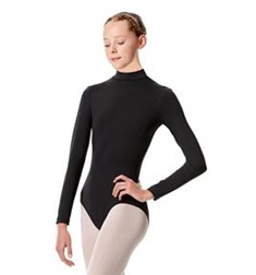 Girls Mock Neck Long Sleeve Dance Leotard Liana