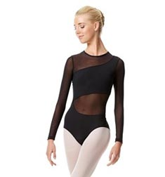 Womens Long Sleeve Mesh Dance Leotard Arabella