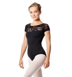 Girls Short Sleeve Lace Dance Leotard Angelina