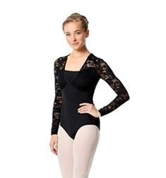 Womens Long Sleeve Lace Dance Leotard Jojo